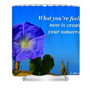 What You Are Feeling Now Shower Curtain