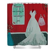 Whatever I Was Looking For Was Always You - Rumi Quote Shower Curtain