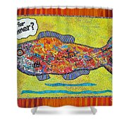 What's For Dinner Shower Curtain by Susan Rienzo