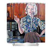 What's For Dinner? Shower Curtain by Tom Roderick
