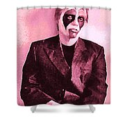 Whats The Point In Miming In Burgundy Shower Curtain