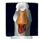 Whats Up Duck Shower Curtain