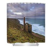 Wheal Coates Tin Mine Shower Curtain
