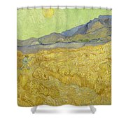 Wheatfield With A Reaper Shower Curtain