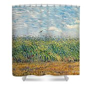 Wheatfield With Lark Shower Curtain