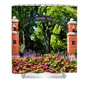 Wheaton Memorial Park Shower Curtain