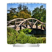 Wheaton Northside Park Bridge Shower Curtain