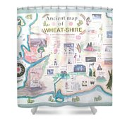 Wheatshires Aincient Map Shower Curtain