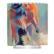 Whee Shower Curtain by Kimberly Santini