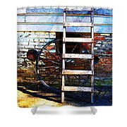 Wheel And Ladder Shower Curtain