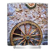 Wheel And Sun In Taromina Sicily Shower Curtain