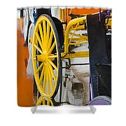 Wheel Colors Shower Curtain