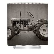 Wheel Horse Vintage Shower Curtain