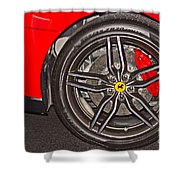 Wheel Of A Ferrari Shower Curtain