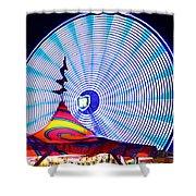 Wheel Of Light Work B Shower Curtain