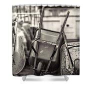 Wheelbarrows  Shower Curtain