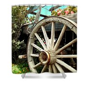 Wheels And Blooms Shower Curtain