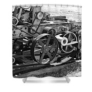 Wheels Gears And Cogs Shower Curtain