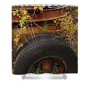 Wheels Of Autumn Shower Curtain