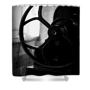 Wheels Of Production Shower Curtain
