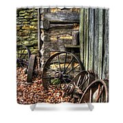 Wheels Of Time Shower Curtain by Benanne Stiens