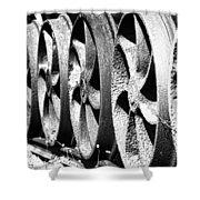 Wheels V2 Shower Curtain
