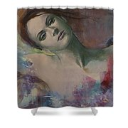When A Dream Has Colored Wings Shower Curtain by Dorina  Costras