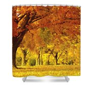 When Autumn Leaves Fall Shower Curtain