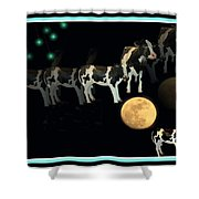 When Cows Jump Over The Moon Shower Curtain