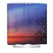 When Day Kisses Night Shower Curtain
