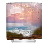 When Heaven Breaks - Surrealism Shower Curtain