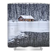 When It Snows Outside Shower Curtain by Evelina Kremsdorf