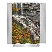 When Light And Water Falls-5a Blackwater Falls State Park Wv Autumn Mid-morning Shower Curtain