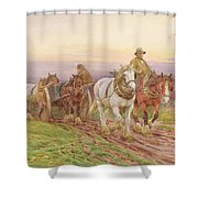 When The Days Work Is Done Shower Curtain by Charles James Adams