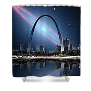 When The Galaxy Came To St. Louis Shower Curtain