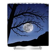 When The Moon Hits Your Eye Shower Curtain
