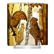 When The Rooster Crows Shower Curtain