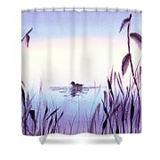 When The Sky Melts With Water A Peaceful Pond Shower Curtain