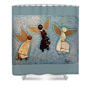 Where All Is Peace And Joy And Love Shower Curtain