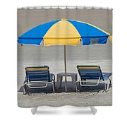 Where Are All The Beach Bums? Shower Curtain