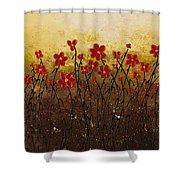 Where Happiness Grows Shower Curtain