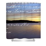 Where Is The Love? Shower Curtain