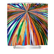 Where It All Began Abstract Shower Curtain