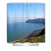 Where Land Meets Sea Shower Curtain