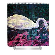 Where Lilac Fall Shower Curtain by Derrick Higgins