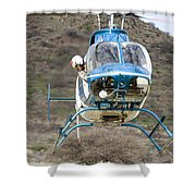 Where Must I Land? Shower Curtain
