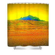 Go Far Out Where Nothing Grows, And Never Look Back   Shower Curtain
