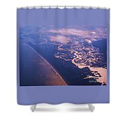 Where Rivers Meet The Sea Shower Curtain
