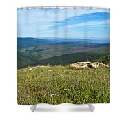 Where The Caribou Roam Near Taylor Highway-ak  Shower Curtain