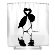 Where The Heart Is Shower Curtain
